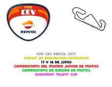 FIM CEV 2017. Barcelona, 17 y 18 de junio