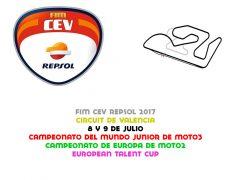 FIM CEV 2017. Valencia 1, 8 y 9 de julio