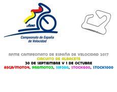 RFME CEV 2017. Albacete, 30 de septiembre y 1 de octubre
