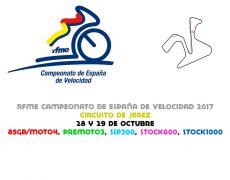 RFME CEV 2017. Jerez, 28 y 29 de octubre