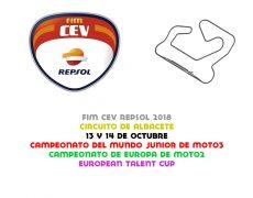 FIM CEV 2018. Albacete, 13 y 14 de octubre