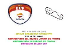FIM CEV 2018. Barcelona, 9 y 10 de junio