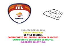 FIM CEV 2018. Valencia, 28 y 29 de abril